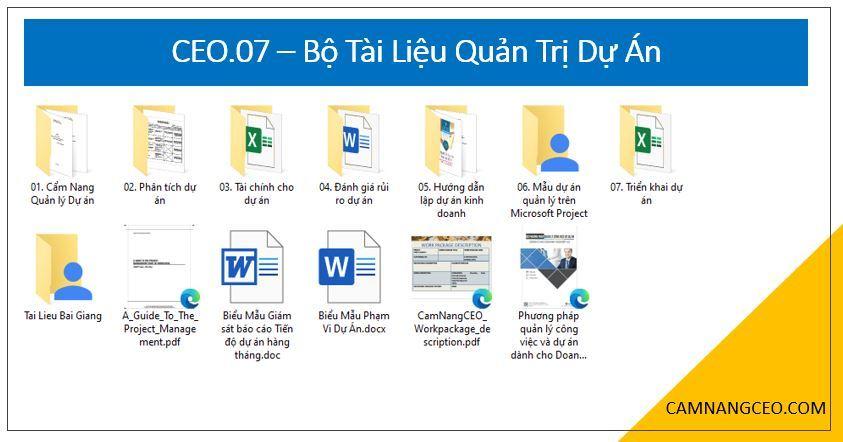 tài liệu quản trị dự án