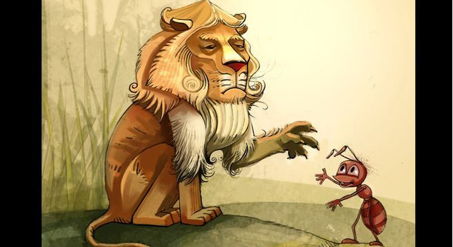 Chuyện Kiến và Sư tử