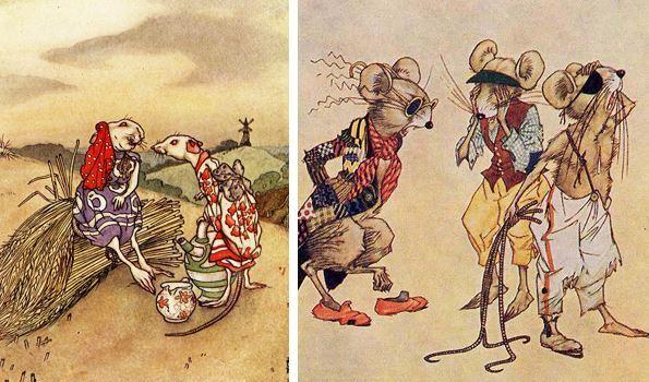 ba con chuột ăn trộm mỡ
