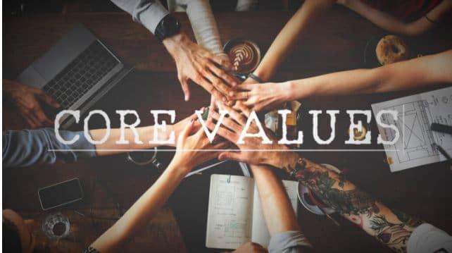 giá trị cốt lõi là gì